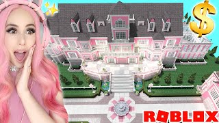 BUYING THE WORLD&#39S BIGGEST $2 MILLION DOLLAR PINK MANSION IN BLOXBURG! Pink Mansion Tour