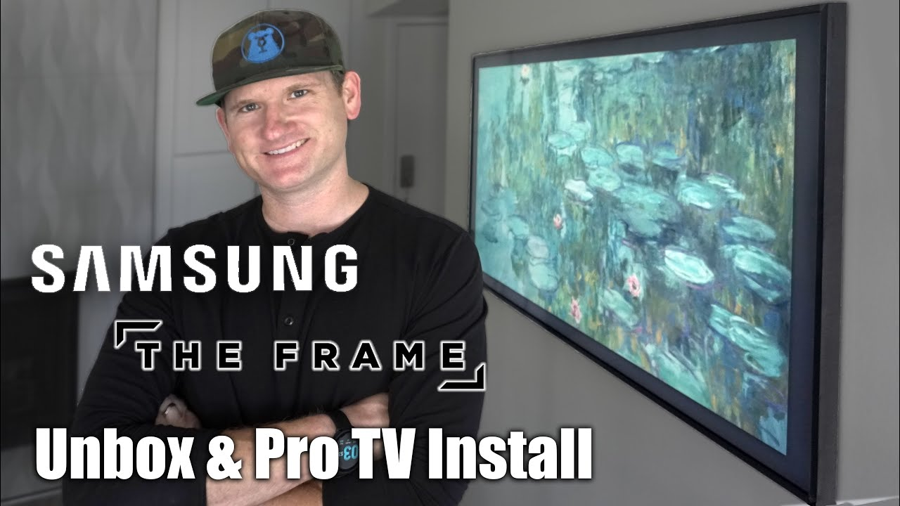 Samsung Frame TV Install With No-Gap Wall Mount