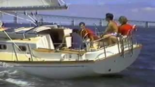 Cape Dory Sailboat - 330 Sales Video from 1980's VHS Tape - Sailing Carl Alberg designed boats