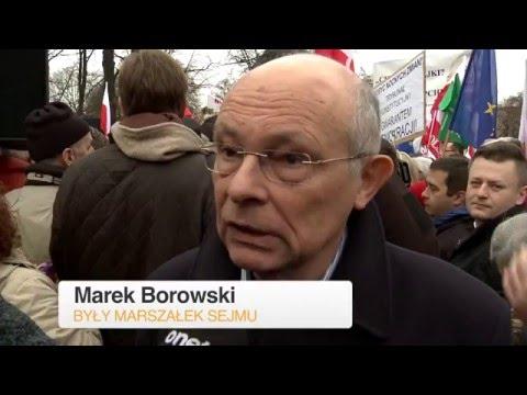 Marek Borowski: Jarosław Kaczyński jest cudotwórcą | Protest KOD 19.12