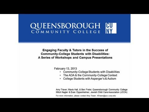 Faculty/Tutor Workshop #1 on Students with Disabilities