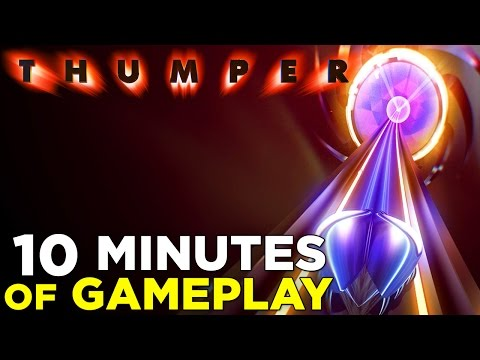 10 Minutes of THUMPER Psychedelic 'Rhythm Violence' Gameplay: Level 4