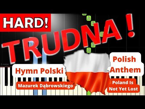 🎹 Hymn Polski (Mazurek Dąbrowskiego, POLISH ANTHEM) - Piano Tutorial (TRUDNA! wersja) (HARD!) 🎹