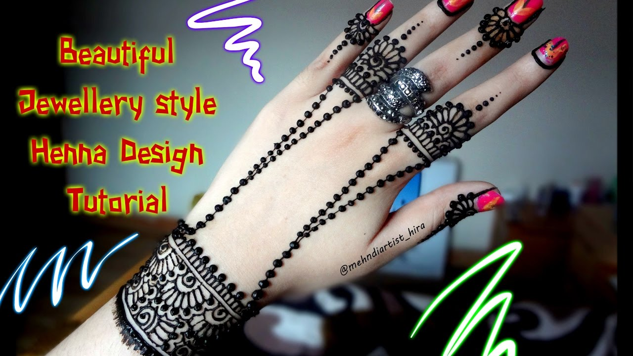 Mehndi design 2017 new style - How To Apply Easy Simple Jewelley Inspired Mehndi Designs For Hands Tutorial For Eid 2017