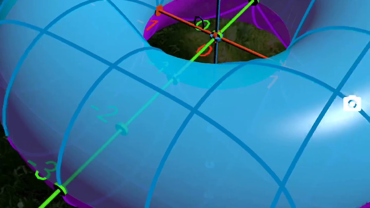 360-Degree Tour INSIDE a TORUS with GeoGebra Augmented Reality