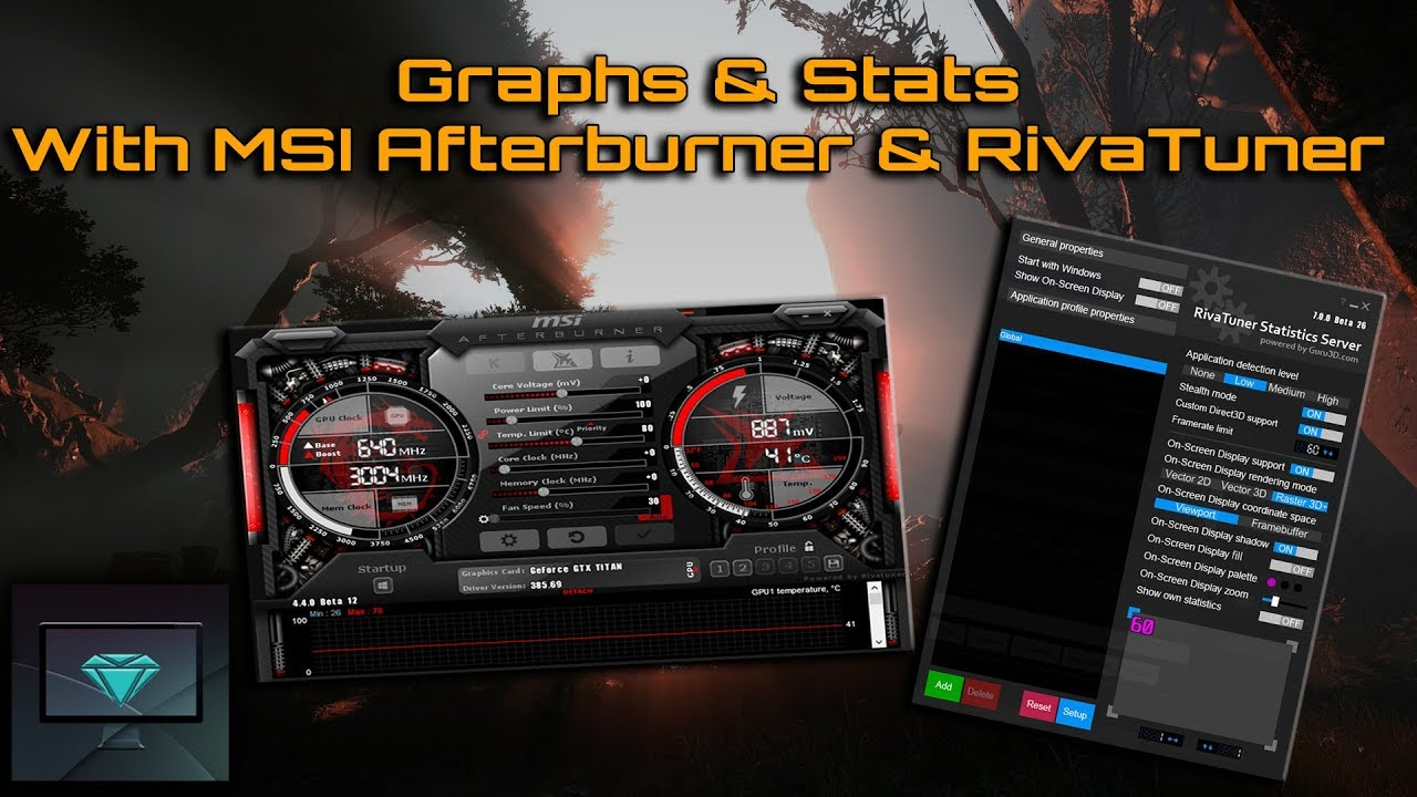 Tutorial | Graphs & Stats with MSI Afterburner & RivaTuner