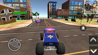 Monster Truck Driver - US Police Monster Truck Gangster Car Chase Games #1 - Android Gameplay screenshot 2
