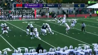 Trinity Football v. Amherst Highlights ~ 11/3/18