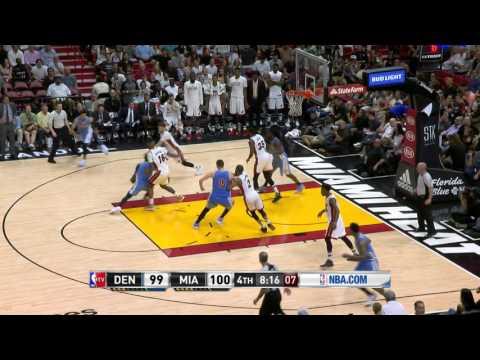 Denver Nuggets vs Miami Heat | April 2, 2017 | NBA 2016-17 Season