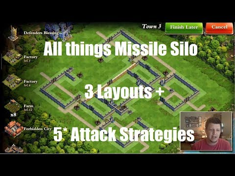 DomiNations - All things Silo - 3 Layouts - War Attack