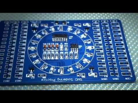 smd soldering practice board youtubesmd soldering practice board