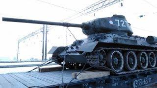 Танки Т-34 прибыли в Иркутск