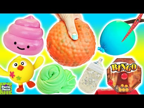 Squishy Cutting Bingo! Huge Homemade Stress Ball! Doctor Squish