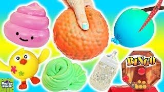Squishy Cutting Bingo! Huge Homemade Stress Ball! Doctor Squish thumbnail