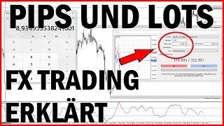 Forex Trading ▶ Was ist ein PIP & LOT🔍? ▶ Wert Berechnung erklärt für Anfänger (Deutsch)