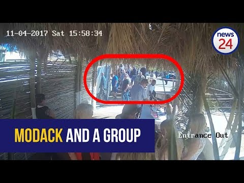 WATCH: Nafiz Modack and a group of men enter the Cape Town venue they allegedly extorted