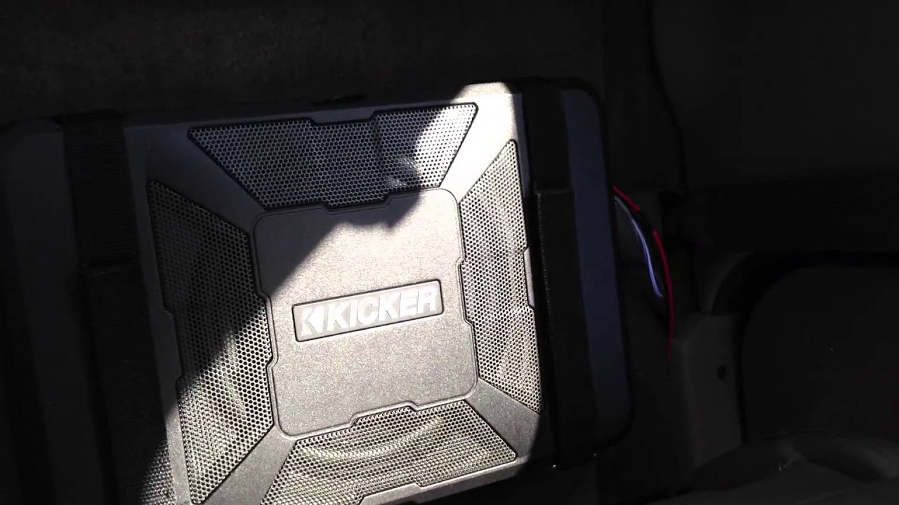 Kicker Hideaway Powered Subwoofer 8 In Toyota Tacoma Extended Cab 2015 Ford F 150 Box 01