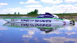 "Rc Adventures - 50"" King Of Shaves - Rc Race Boat - 7.4hp Gas Powered"