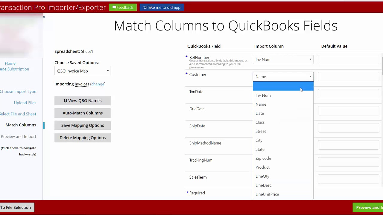 Import Invoices From Excel Or CSV Files To QuickBooks Online YouTube - Quickbooks invoice import csv