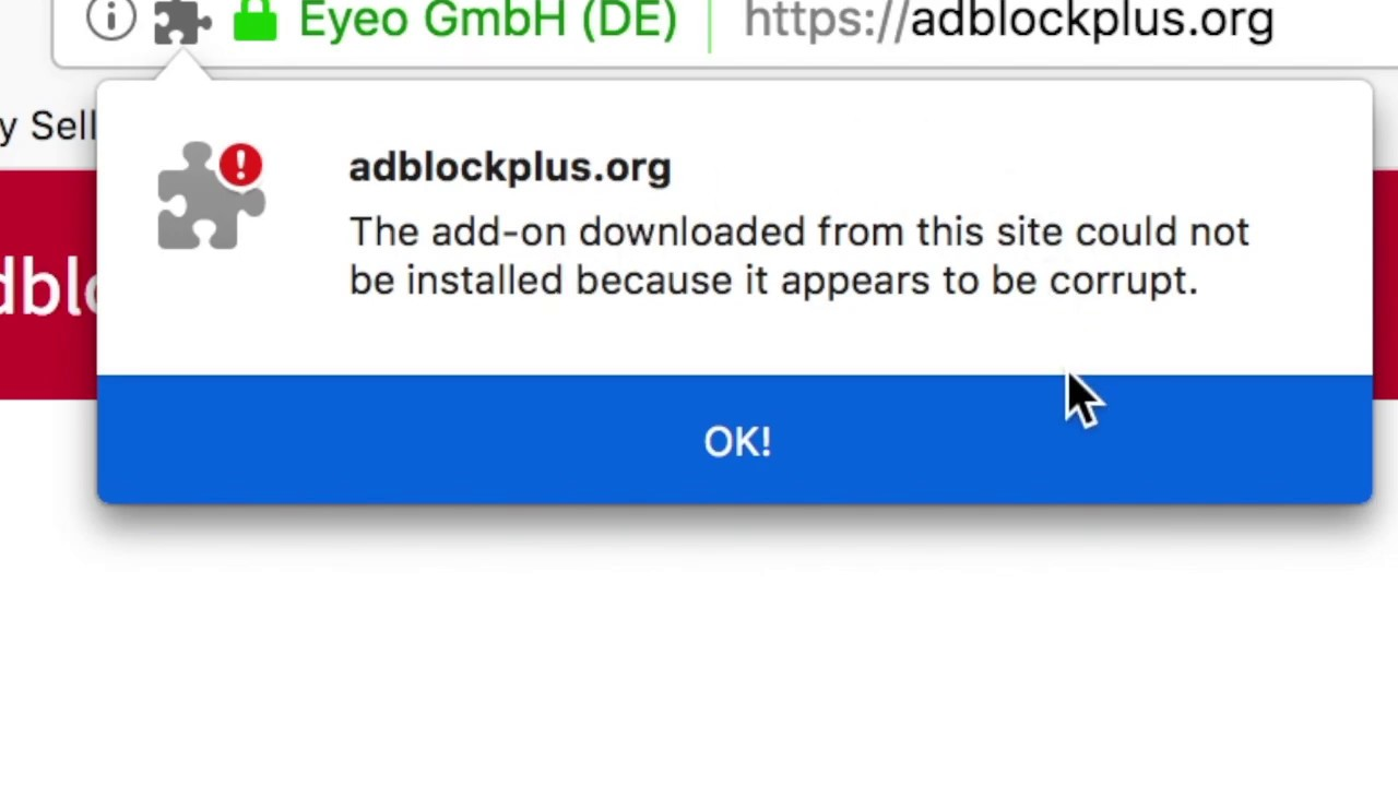 AdBlock NO longer working on firefox Disabled Broken Banned Corrupt ?  Add-ons disabled ad block ????