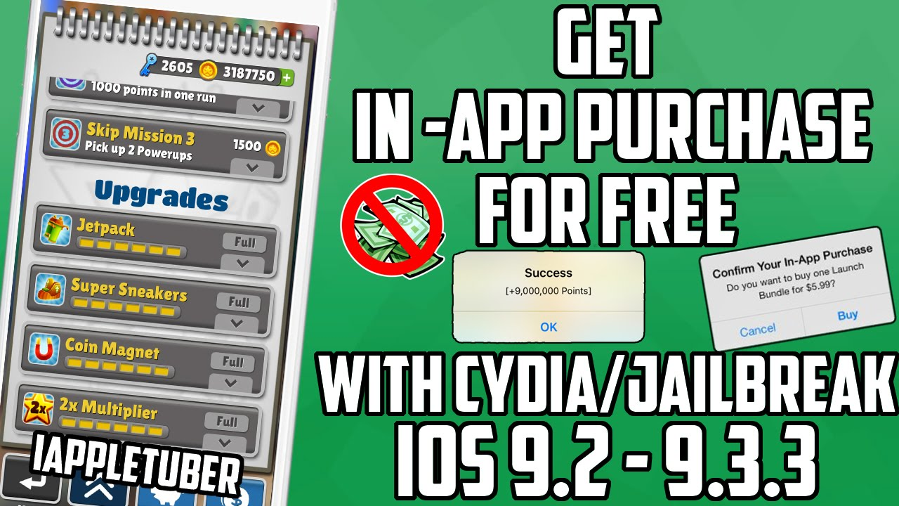 Get FREE in-App Purchases, Unlimited Coins iOS 9 2 - 9 3 3 with CYDIA  Jailbreak -iPhone/iPod/iPad
