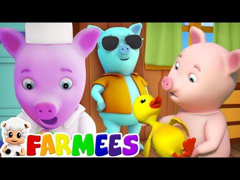 Este Porquinho   Canções Para Crianças   Rimas De Berçário   This Little Piggy   Farmees Português