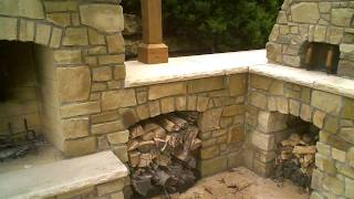 Stone Fireplace Brick Oven