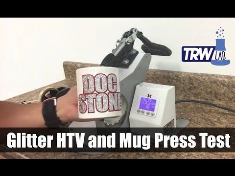 TRW Lab #7: Can You Press Glitter HTV On A Coffee Mug?