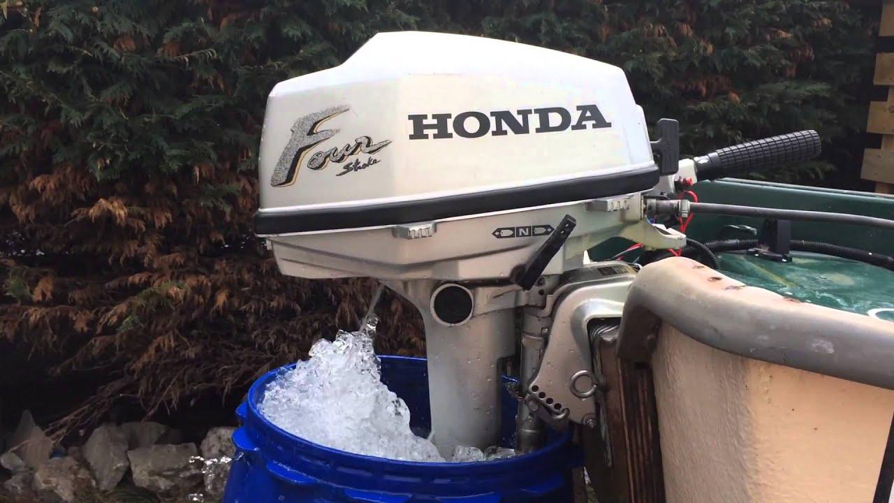 Honda 5hp outboard 4 stroke engine youtube for Honda 2 5 hp outboard motor