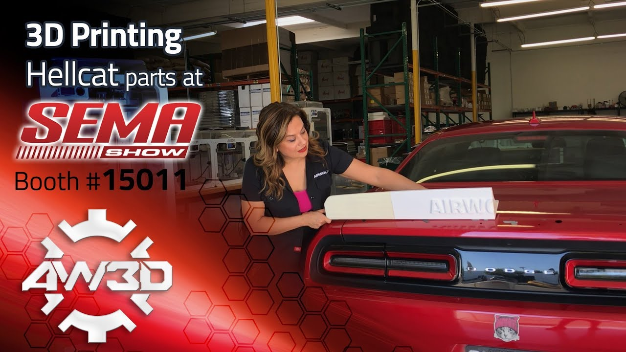 3D Printing Car Parts in ABS for Hellcat at SEMA 2017 - Rear Spoiler,  Episode 1