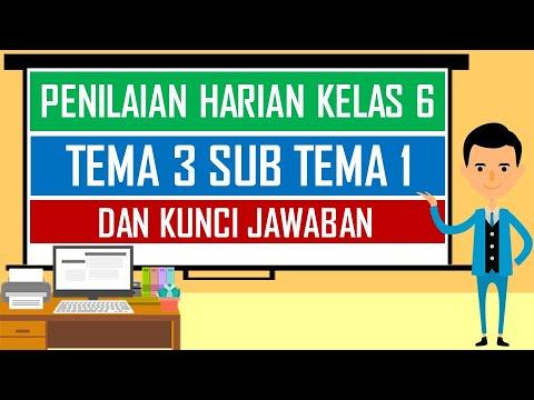 Soal Penilaian Harian Kelas 6 Tema 3 Sub Tema 1 Dan Kunci Jawaban Youtube