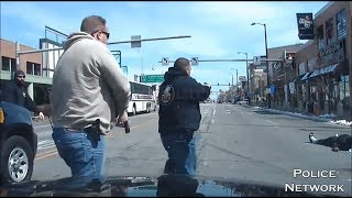 Atlantic City Police Shootout With Armed Suspect