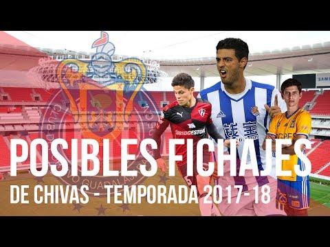 Rumores y Posibles FICHAJES de CHIVAS DE GUADALAJARA para la Temporada 2017-2018