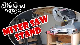 Miter Saw Stand - Scrap Woodworking Project