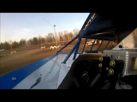 JR Gentry GoPro Late Model Heat, Hilltop Speedway 4-15-17