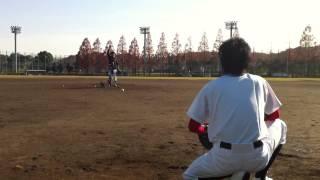 ピッチングマシーンのテストテイク2!!軟式ABC球です!