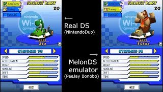 Playing Mario Kart DS online in 2018 (Real DS vs Emulator races!)