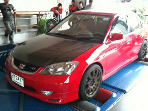 Civic Dimension ES04 K20A on Dyno Test by RedH