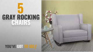 Top 10 Gray Rocking Chairs [2018]: Esright Gray Fabric Rocker Morden Rocking Chair Comfortable Relax