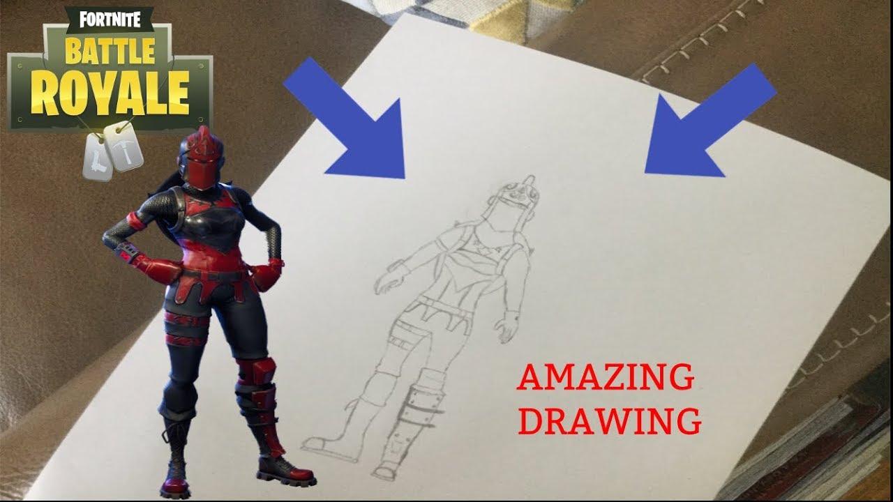 Fortnite Black Knight Drawing Easy