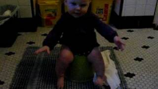 Lydia uses the potty (8 months)