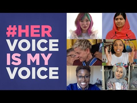 HerVoiceIsMyVoice Celebrate the Women Who Inspire Us Every Day