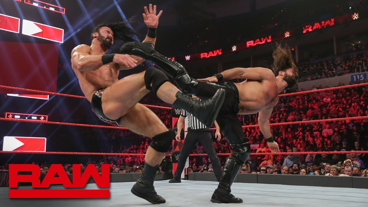 Seth Rollins vs. Drew McIntyre: Raw, Jan. 21, 2019