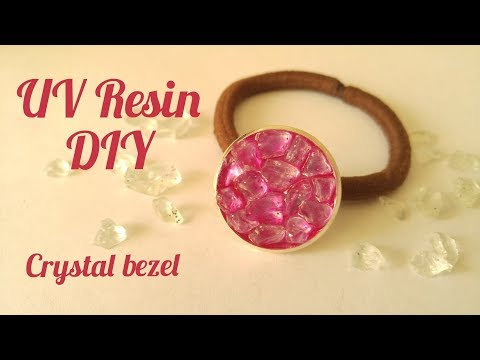 UV Resin DIY Crystal Bezel Hair Tie Tutorial