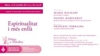 Streaming ICUB - Diàlegs de Pedralbes: Espiritualitat i més enllà - 19-09-2013