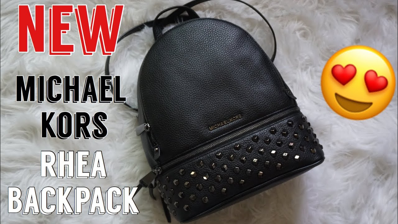 eaf5a6f18da1 Unboxing  Michael Kors Rhea Zip Medium Backpack