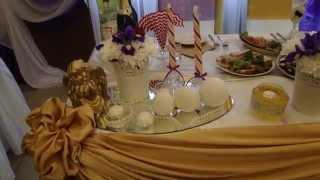 Роскошная свадьба Игоря и Дианы в фиолетово-золотом цвете.