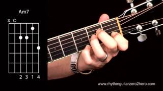 learn guitar chords am7 beginner acoustic guitar lessons