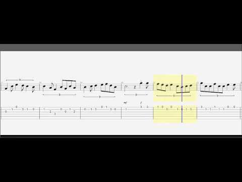 Guitar Tab - Zelda Wind Waker Theme - Play Along