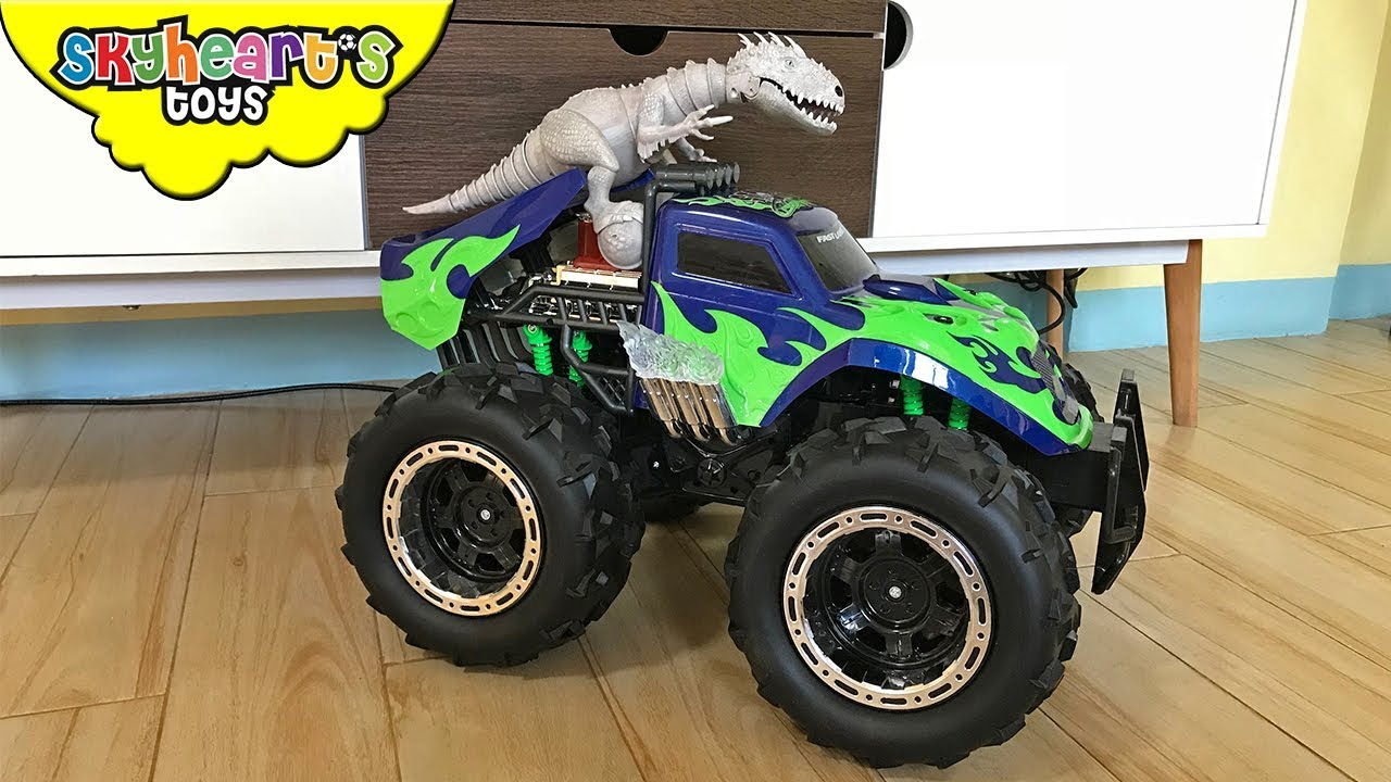 Indominus Rex Riding A Monster Truck Skyheart Sleeps Dinosaur Fight Battle Jurassic World Trex Youtube